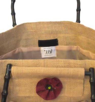 [:ro]Geanta de Iuta 35x30 cu manere si flori aplicate[:en]jute bag 35x30 with handles[:]