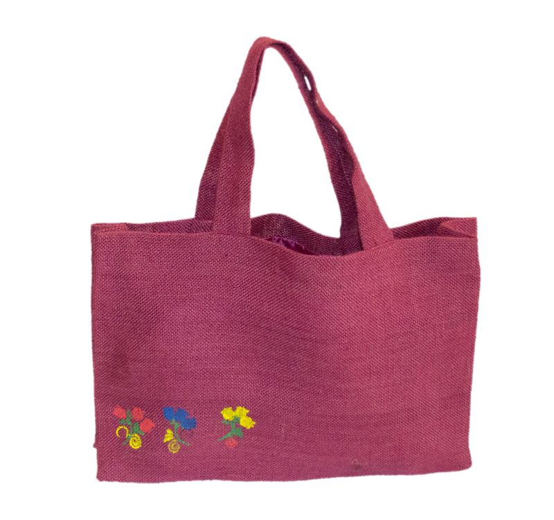 [:ro]Sacoșă Iută Colorată 40x30 pictată manual[:en]Painted Coloured Jute Bag, hand painted 40x30 [:]