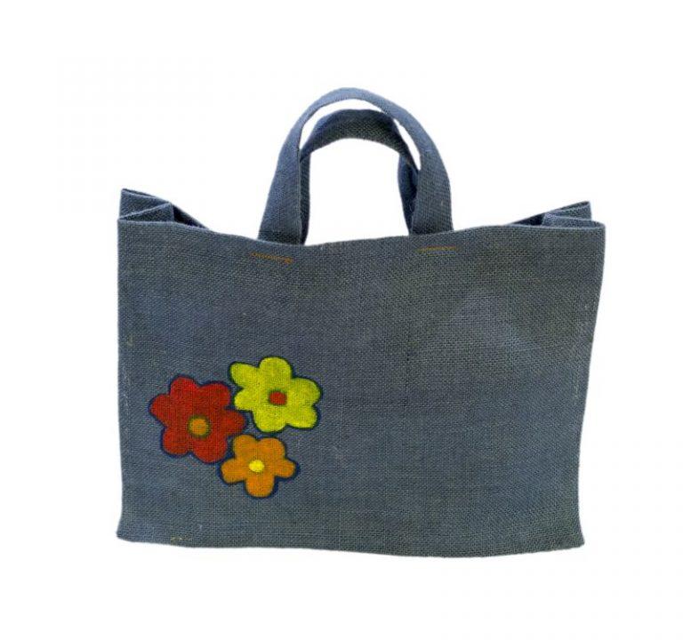 [:ro]Sacoșă Iută Colorată 40x30 pictată manual[:en]Painted Coloured Jute Bag, hand painted 40x30 [:]